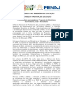 Carta Aberta Ao MEC e CNE Outubro 2012