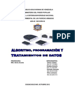 Unidad I Algoritmo, Programacion y Tratamiento de Datos