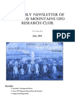 The Blue Mountains UFO Research Club Newsletter - July 2010