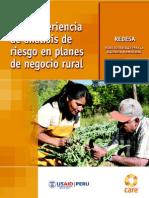 Una experiencia de análisis de riesgo en planes de negocio rural