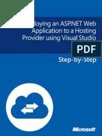 Deploying an ASP.net Web Application to a Hosting Provider Using Visual Studio