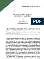 Las Practicas Politicas Del Anarquismo Argentino - Juan Suriano