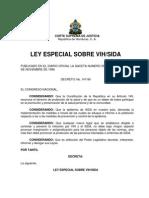 Ley Especial Sobre Vih Sida