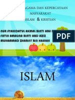 Nilai Agama Dan Kepercayaan Masyarakat Islam Dan Kristian