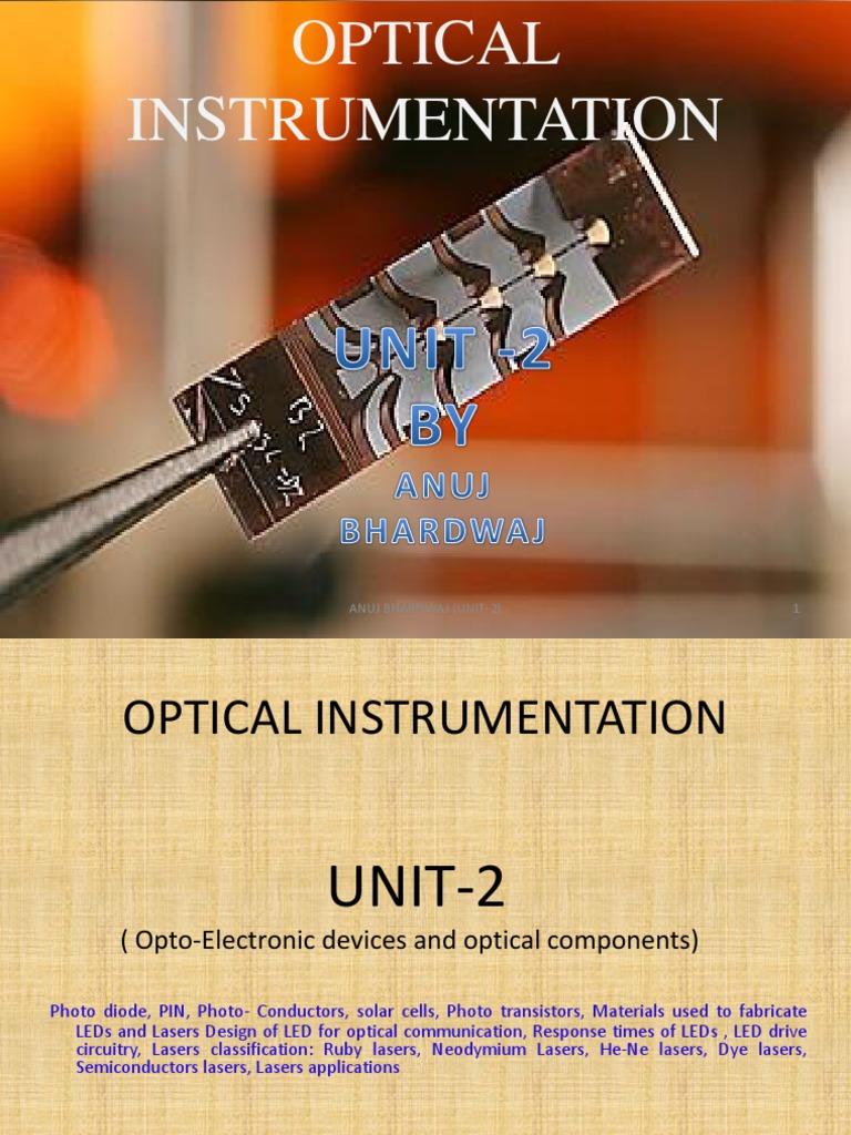 Optical Instrumentation u2 | Laser | Laser Diode