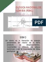 Red Sismologica Nacional de Colombia