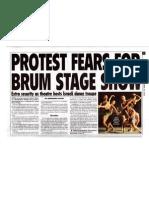 Extra security for upcoming show by Batsheva apartheid ambassadors in Birmingham, Sunday Mercury, 28 October 2012