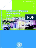 Participatory Planning and Budgeting.2005