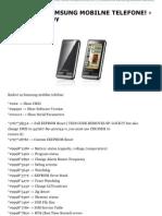 KODOVI ZA SAMSUNG MOBILNE TELEFONE! › KISIN-Company