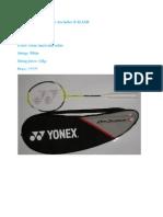 Yonex Badminton Bracket