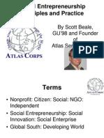Social Entrepreneurship Principles and Practice