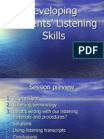 Developing Students' Listening Skills