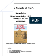 The Temple of Nim Newsletter - October 2005