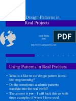 Using Design Patterns in Real Projects