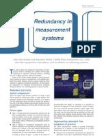 Redundancy in Measurement Systems