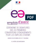 Signature des 30 1ères conventions d'engagement pour les emplois d'avenir à @Matignon