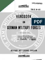 TM E 30-451 Handbook on German Military Forces (1 Sep 1943)
