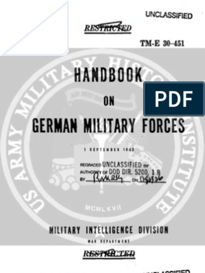 TM E 30-451 Handbook on German Military Forces (1 Sep 1943