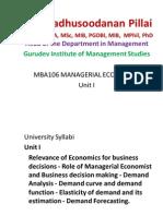 Managerial Economics - Unit 1