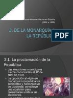 De La Monarquia a La Republica
