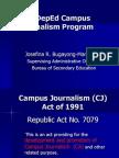 The DepEd Campus Journalism Program