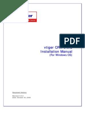 VtigerCRM Installation Manual Windows   Apache Http Server