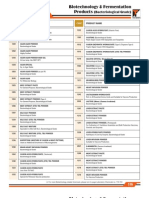Biotechnology & Fermentation Products
