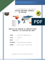 Analisis de Indice de Competitividad