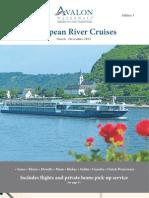 Avalon Cruises European River Cruises 2013 1st Edition