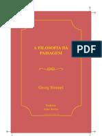 Georg Simmel a Filosofia Da Paisagem G Simmel