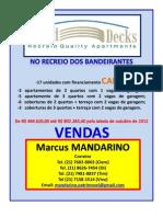 ROUND DECKS Recreio Quality Apartments no Recreio dos Bandeirantes - Av. Tim Maia - Corretor MANDARINO - mandarino.patrimovel@gmail.com - (21)7602-8002