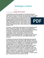 Husserl, Heidegger e Sartre
