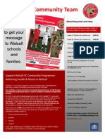 Walsall Fc Community Rate Card