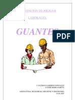 Prevención de riesgos laborales. Guantes