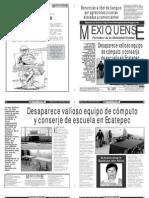 Versión impresa del periódico El mexiquense 30 de octubre 2012