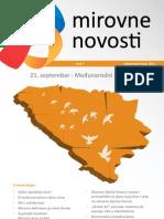 Mirovne Novosti Broj 8, Septembar 2011