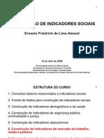 ELABORAÇÃO DE INDICADORES SOCIAIS