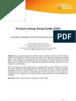 Flywheel as Energy Storage Facility