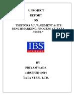 Debtors Management & Its Benchmarking Process at Tata Steel_ Priyamwada_11BSPHH010614