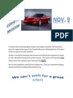 Corvette Museum Letter