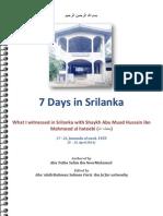 7 Days in Srilanka