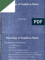 Maine English Phonology
