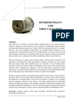 104429836 Dividend Policy and Firm Valuation(1)