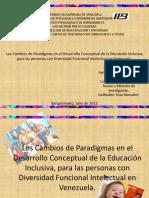 cambios paradigmaticos en la educacion especial en venezuela