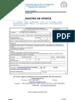 Registro de Oferta