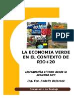 La economia verde en el contexto de Rio20 - Rodolfo Bejarano