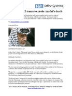 What Realy Happen to Yasser Arafat