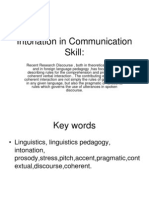 Intonation in Communication Skill