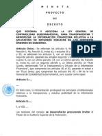 Minuta Ley General de Contabiliad Gubernamental