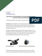 4K Raw Recording Interface Solution For NEX-FS700